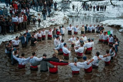 "The ritual of ""Ice Horo (Dance)""of Epiphany in Kalofer"