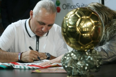 Stoichkov with the Golden Ball in Kavarna on July 25th!